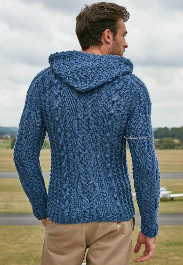 мобильный Liveinternet мужской пуловер Gregor с капюшоном и аранами