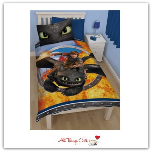 Dreamworks Dragon Toothless (Cotton Mix) Single Duvet/Quilt Cover (Reversible)  #dreamworks #dragon #toothless #howtotrainyourdragon