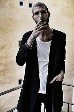 blackistheonlycolor:  Me wearing Yohji Yamamoto stray jacket! xxx