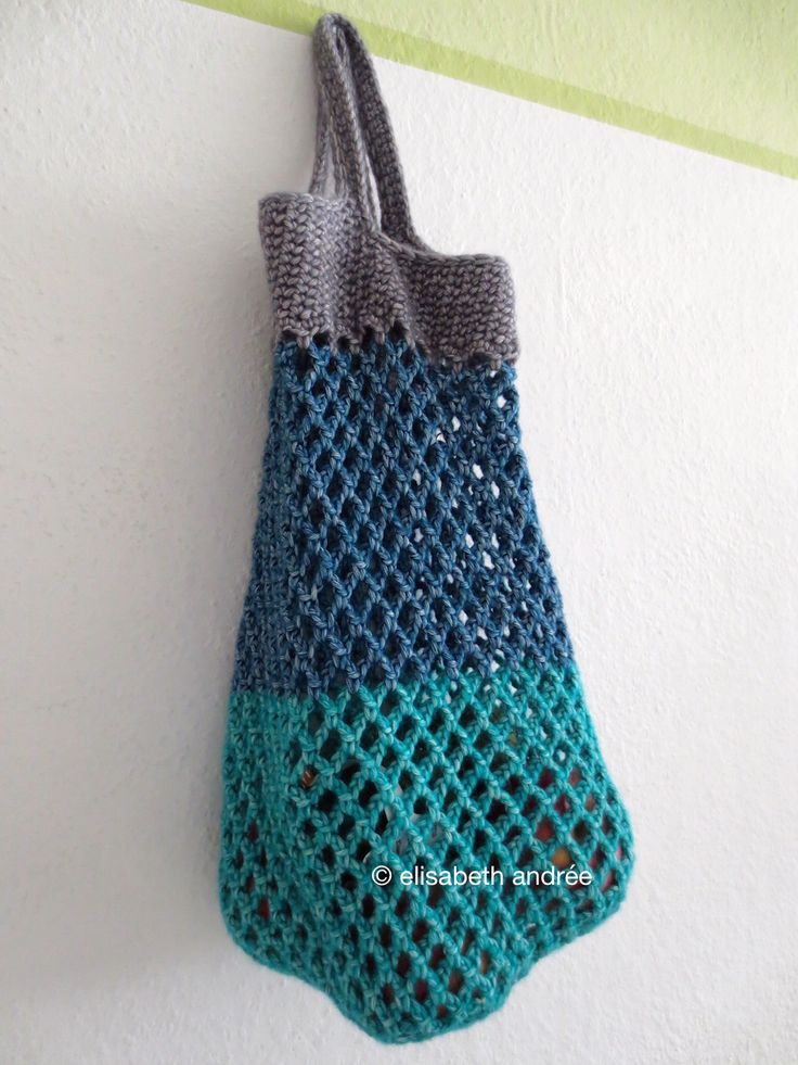Free crochet pattern for mesh shopper by elisabeth andrée
