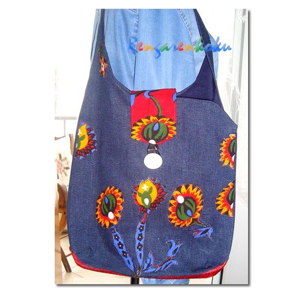 Rengarenkoku: pazen ve kot kumaşlardan tasarım çantalar,kot çanta