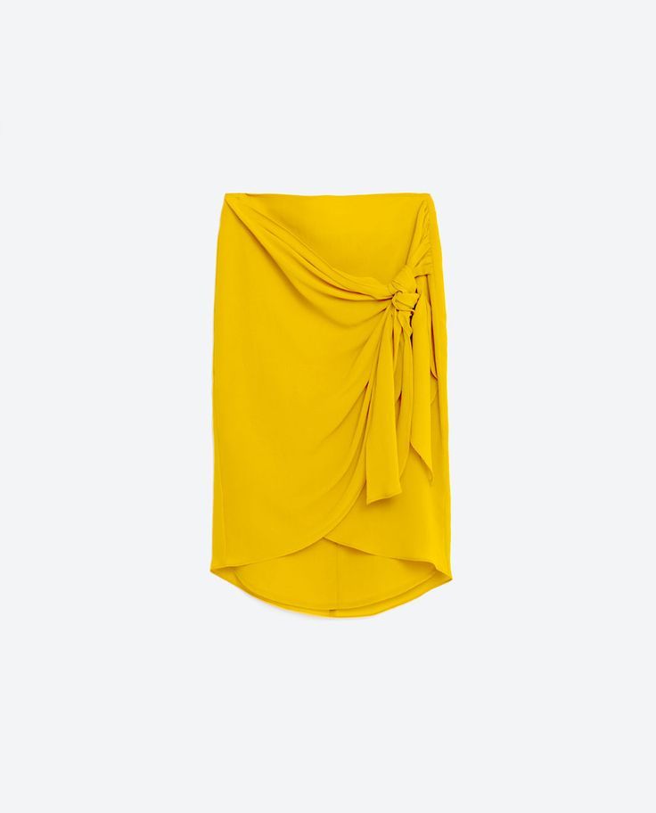 Image 8 of KNOTTED WRAP SKIRT from Zara