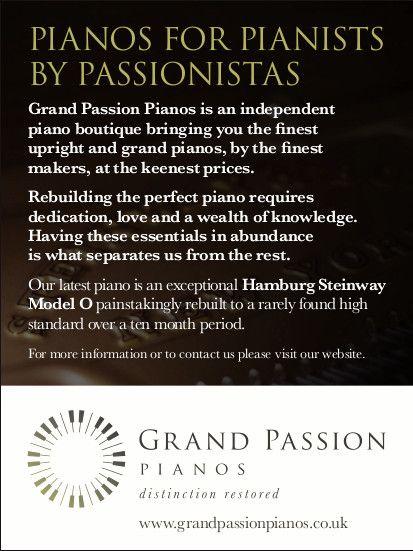 Grand Passion Pianos recent print advertisement