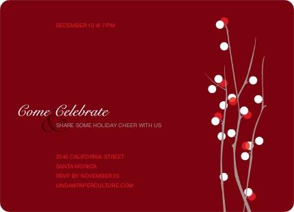 Berry Happy Holiday Invitations