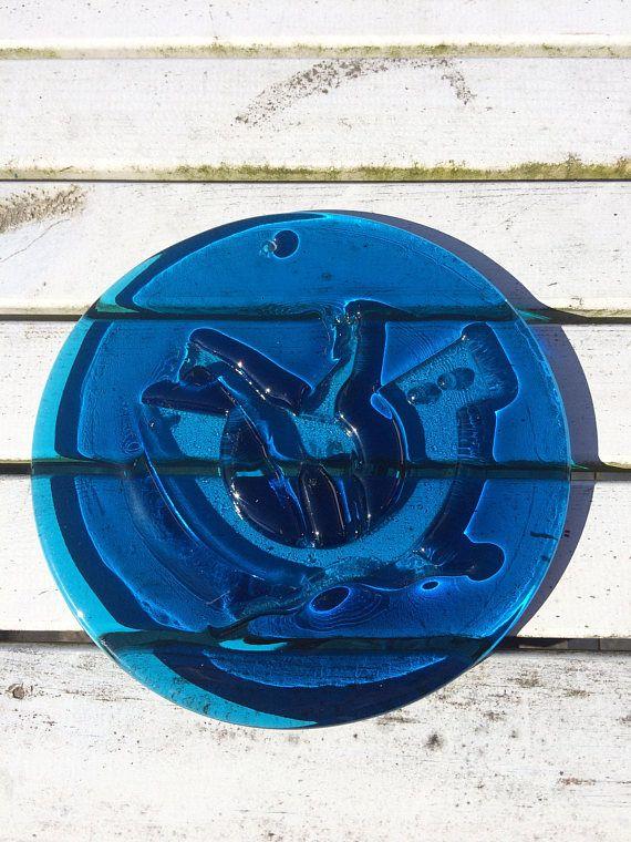 A Vintage Holmegaard blue sun catcher from Scandinavian's
