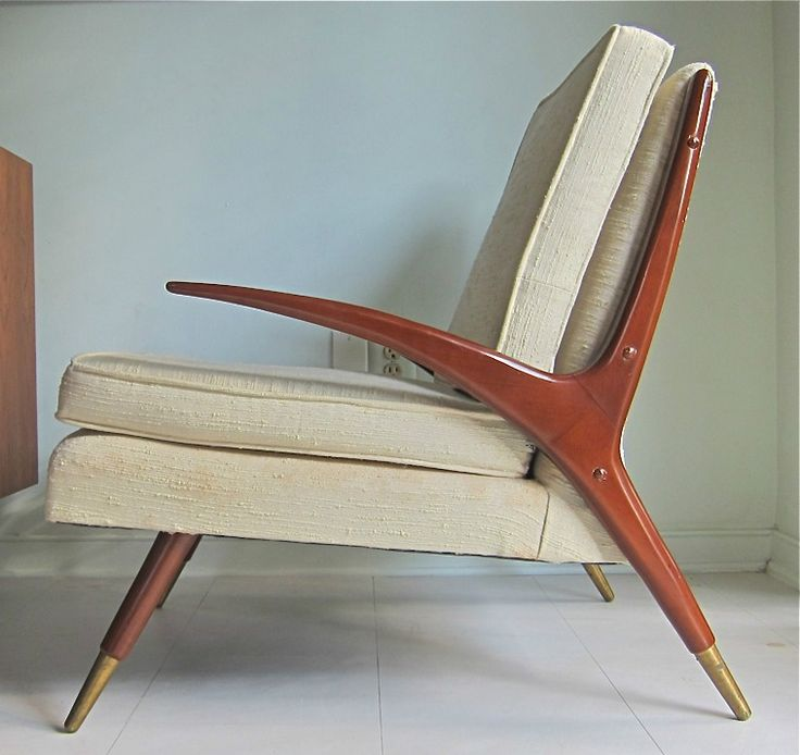 ... Mid-Century Modern Chair in the style of Franco Albini image 3 ...