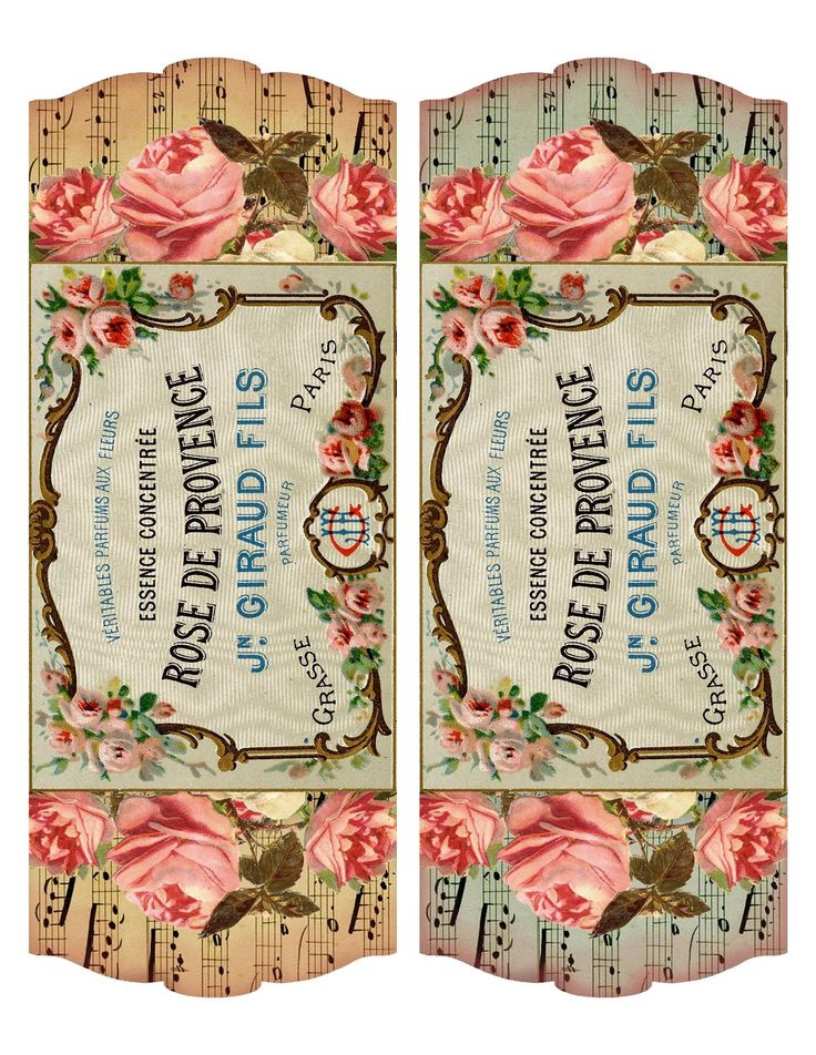 Free printable ~ French perfume label & project idea