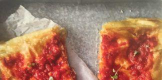 Focaccia di Recco με ντομάτα (3 μονάδες τα 3 κομμάτια)