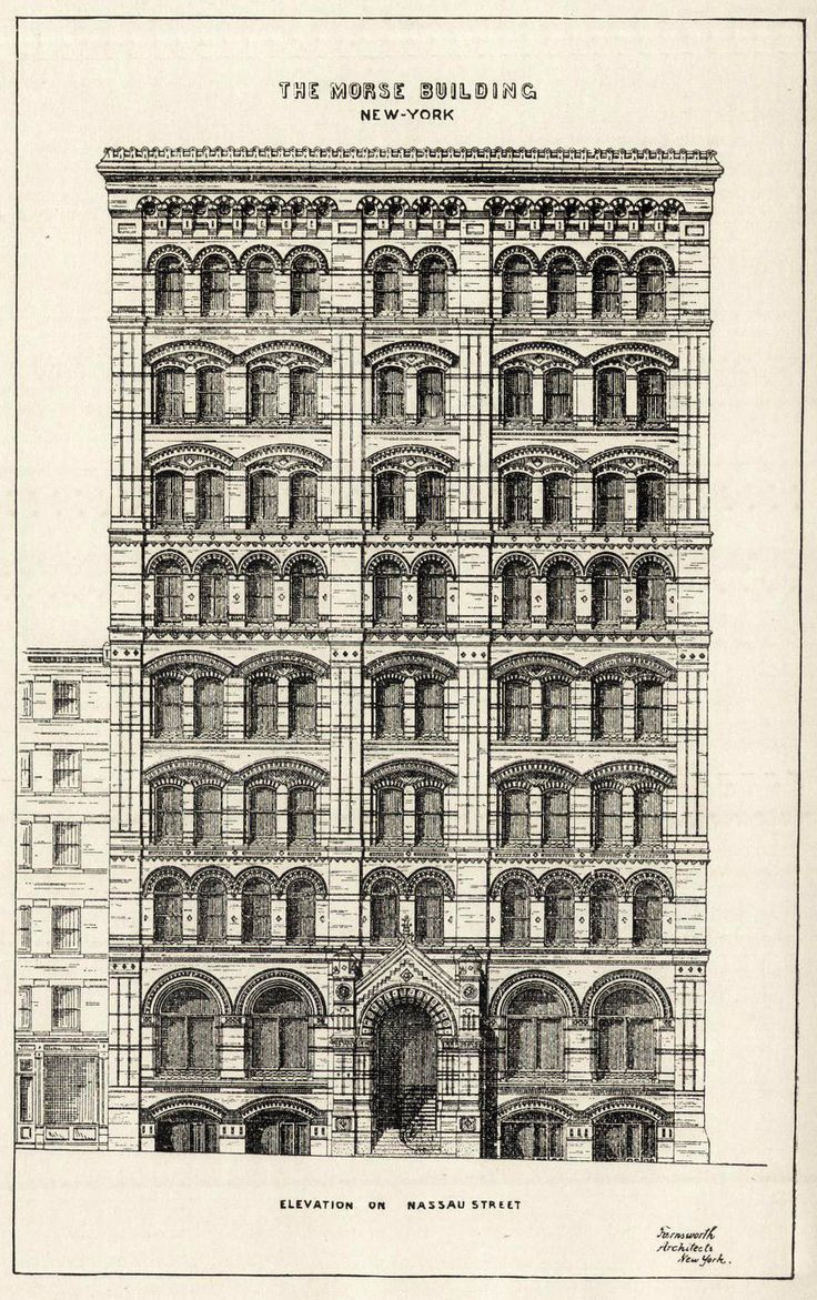 Elevation of the Morse Building, New York City