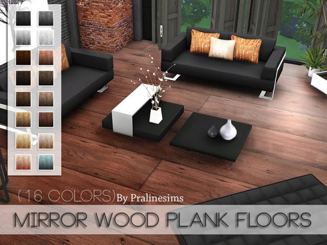 Sims 4 Cc S The Best Mirror Wood Plank Floors By Pralinesims Dielenboden Holzbrett Und