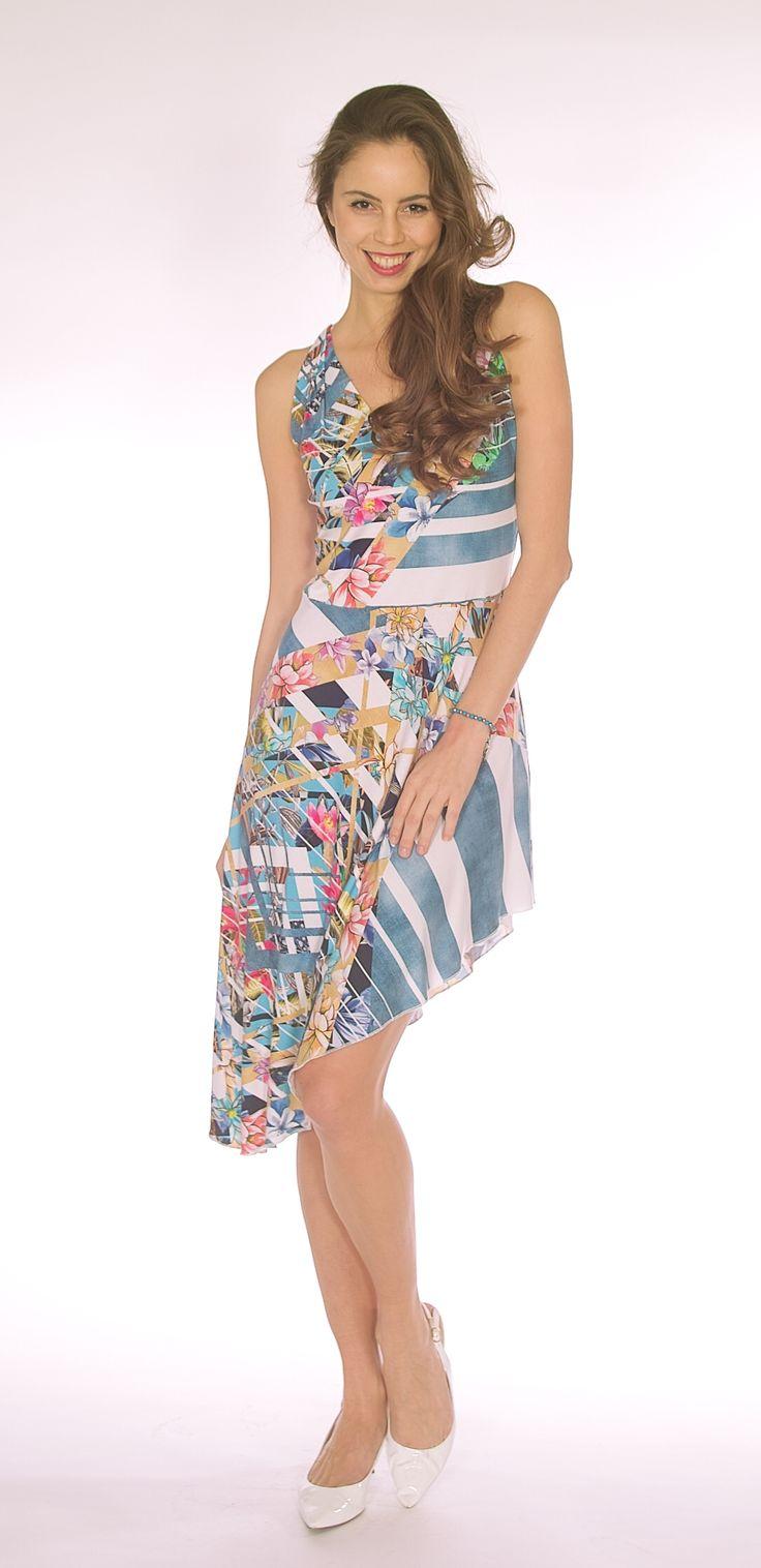 Asymmetrical Hem Dress SL1616