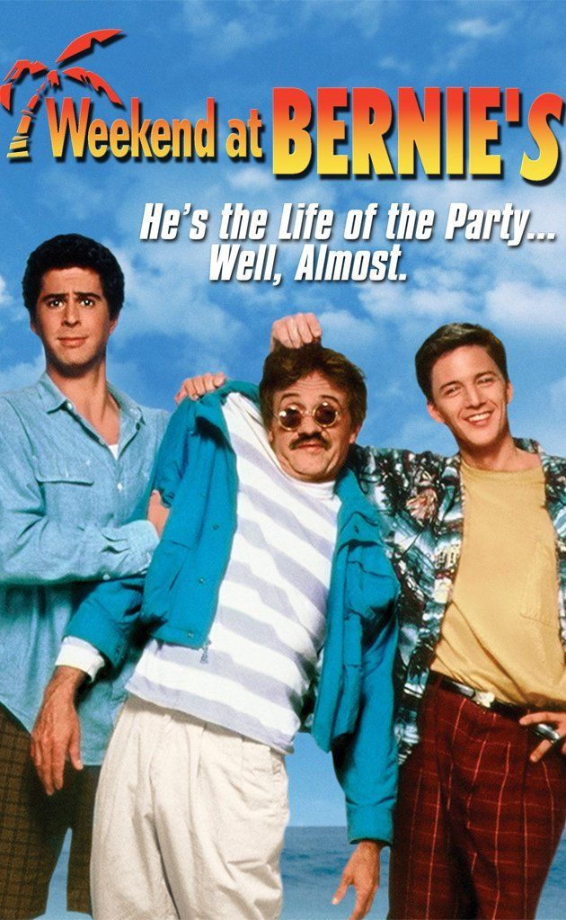 "Weekend at Bernie's, 1989 - Directed by Ted Kotcheff.  With Andrew McCarthy, Jonathan Silverman, Catherine Mary Stewart, Terry Kiser. A pair of losers try to pretend that their murdered employer is really alive, but the murderer is out to ""finish him off."""