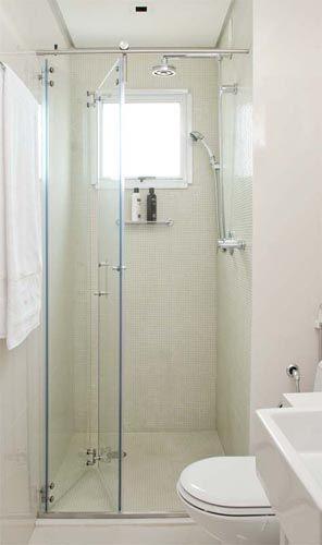 Ampliando o banheiro com ajuda de um box inteligente | via Simplesdecoracao.