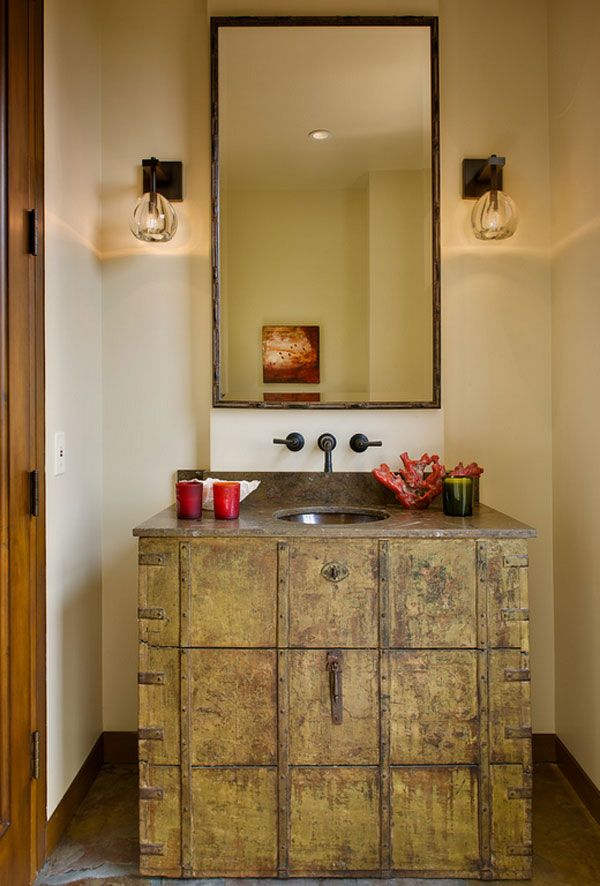 Rustic Bathroom | Image via homedesignlover.com
