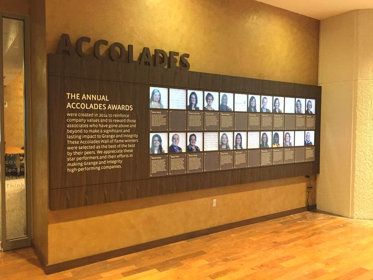 Grange Accolades - employee recognition wall.jpg | Signs ...