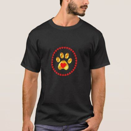 Elegant golden paw T-Shirt - golden gifts gold unique style cyo