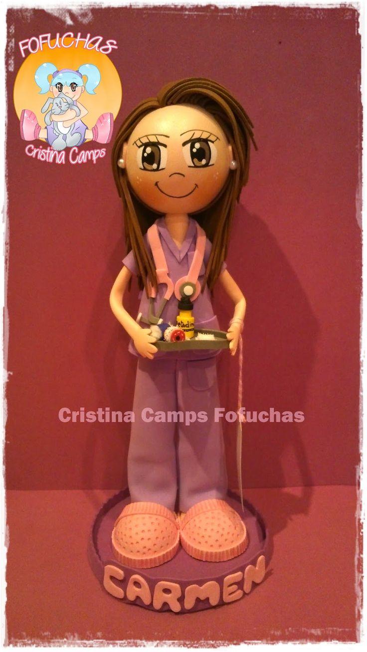 Cristina Camps Fofuchas: Fofucha enfermera 6