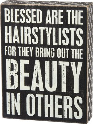 Item # 27193 | Box Sign - Hairstylists | Primitives by Kathy