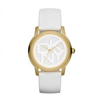 DKNY White Leather Strap NY8827