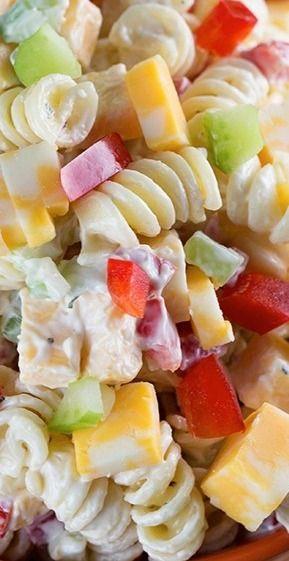 Creamy Cheddar Pasta Salad Recipe