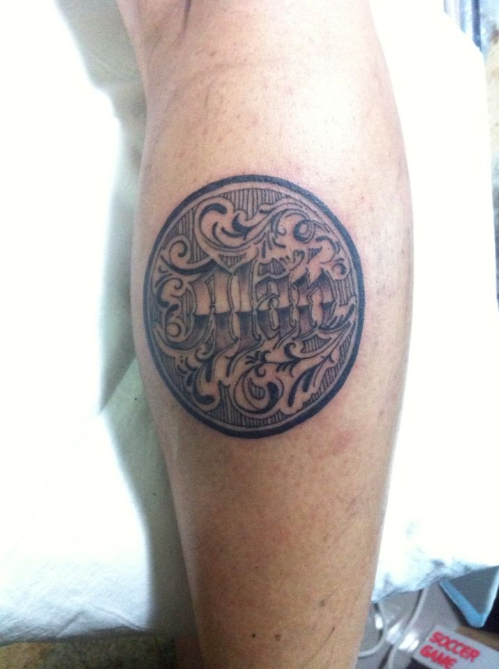 Thank Tle name son tattoo design