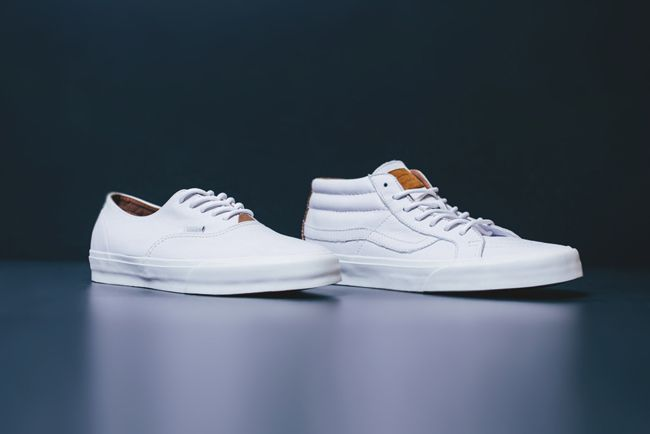 Vans CA Leather Collection Available Now | Feature Sneaker Boutique The Sk8 Mid ($100) and Era Decon ($80)