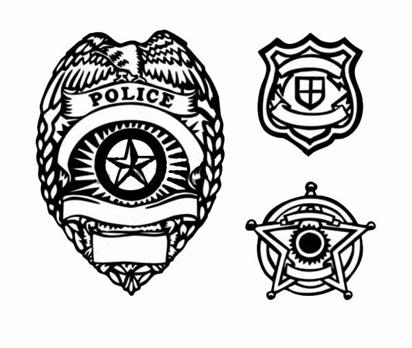 Police Badge Coloring Page Fresh Picture Type Police Badge