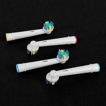 4 Pcs cerdas macias EB-25A elétrica cabeças escova de dentes, cabeça da escova de substituição, escova de dentes higiene oral alishoppbrasil