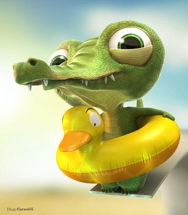 Baby Alligator by Diogo Carneiro, via Behance  http://www.behance.net/gallery/Baby-Alligator/1631199#