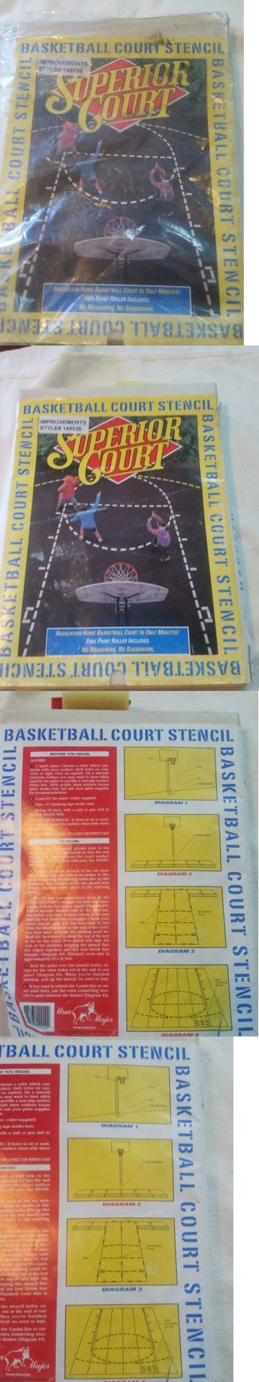 Other Basketball 2023: Superior Court Basketball Court Stencil ~ Rugulation Home Court ~ No Measuring -> BUY IT NOW ONLY: $40 on eBay!
