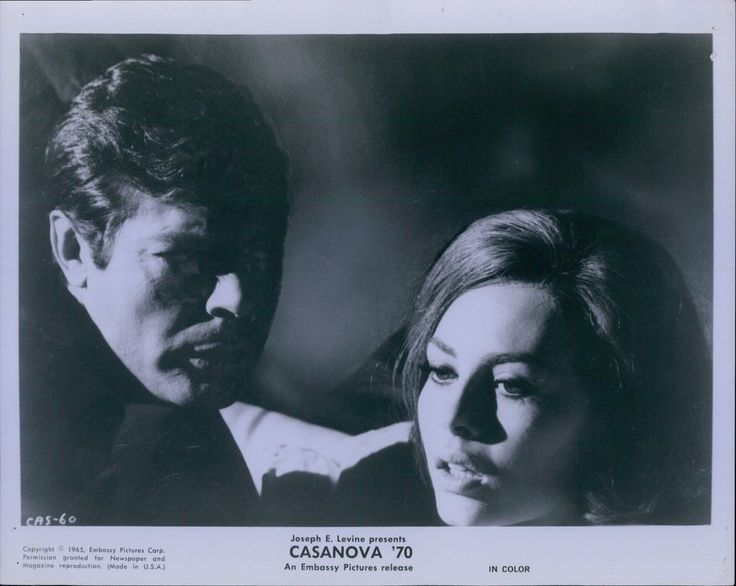 CA582 1965 Original Photo MICHELE MERCIER & MARCELLO MASTROIANNI Casanova 70 | eBay