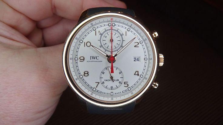 IWC Portugieser Yatch Club Chronograph oro rojo frontal