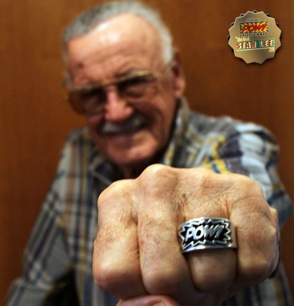 :)Stan Lee's Pow! Entertainment is releasing .925 sterling silver rings made in the shape of Stan's POW! logo, along with a certificate of authenticity signed by Stan, a glass case and jewelry pouch. The release is limited to 250 pieces and is available for $275.