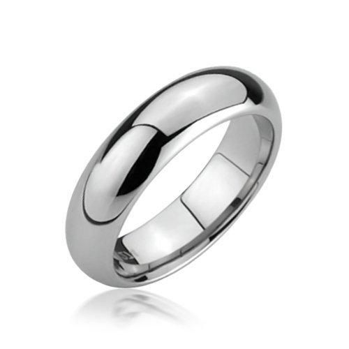 Bling Jewelry Comfort Fit Unisex Tungsten Wedding Band Ring 5mm