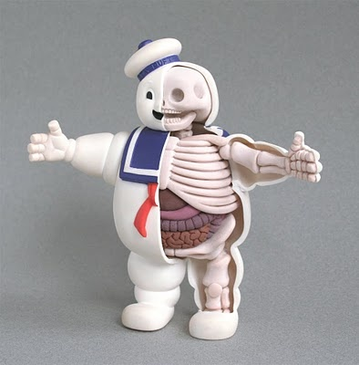 toycutter: Stay-Puft Man anatomical sculpture