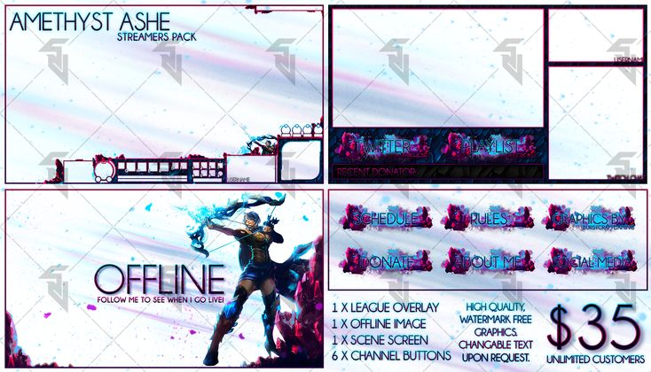 Amethyst Ashe - Pre-Made Cheap Streaming Pack by StudioVulcan