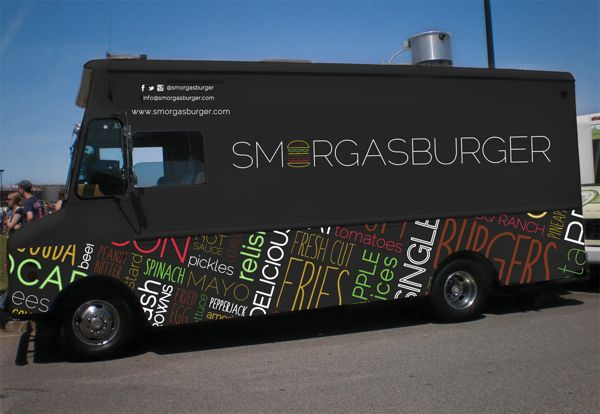Food truck wraps digital print media for Design your food truck