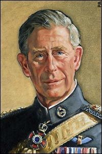 Prince Charles by Jemma Phipps in the uniform of a Colonel-in-Chief of the Queen's Dragoon Guards. 2006 The portrait will eventually hang in the regiment's officers' mess in Cardiff.
