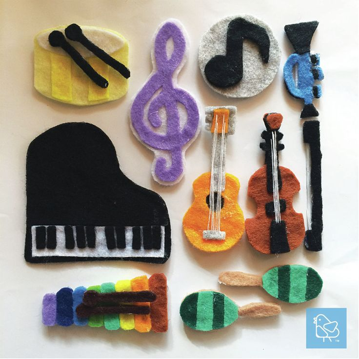 DIY Quiet Busy Book Musical Instruments Piano Xylophone Violin Maracas Melody Drum Guitar Trumpet