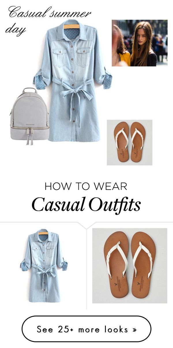 """Casual summer day"" by navypooch on Polyvore featuring American Eagle Outfitters and MICHAEL Michael Kors"