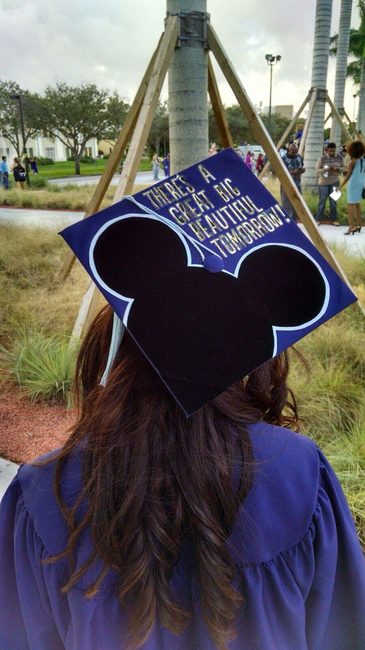For all the people that hate on Carousel of Progress | Great big beautiful tomorrow graduation cap