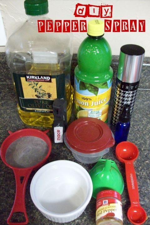 DIY pepper spray + two other frugal Protection Preps #DIY #Prepper