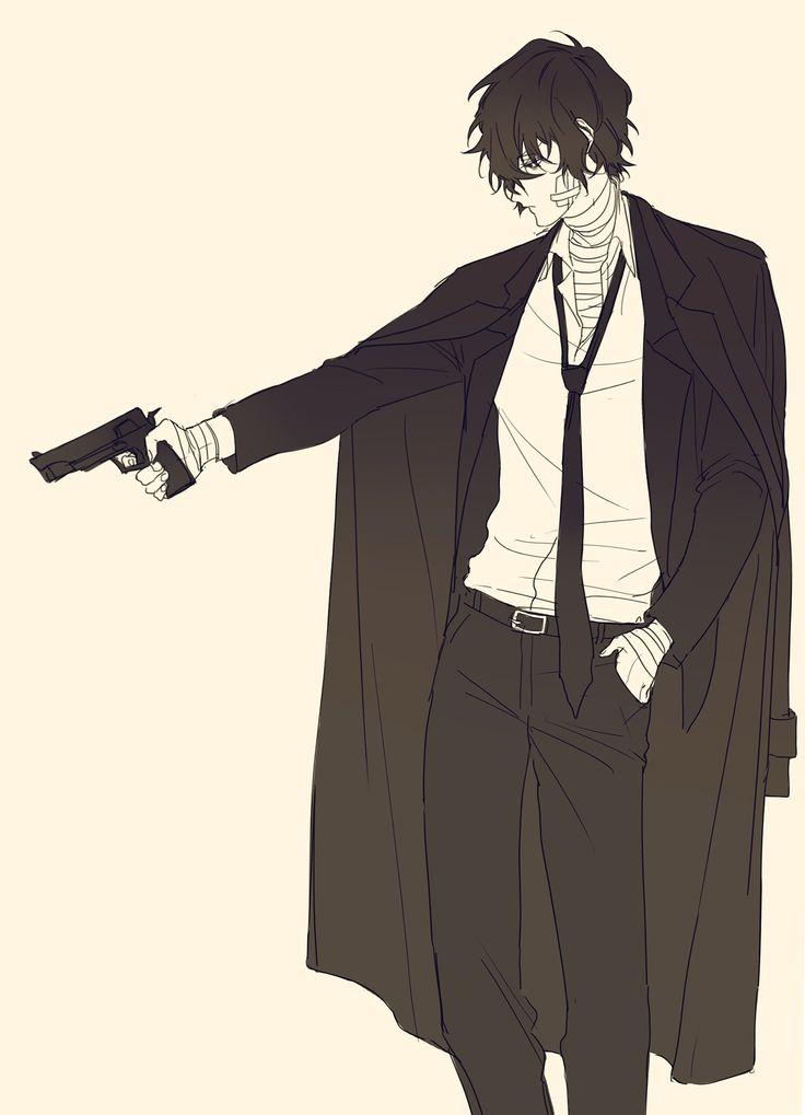 Аниме картинки парней с пистолетом