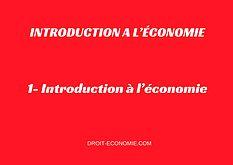 1- Introduction à l'économie  #économie #eco  droit-economie.com
