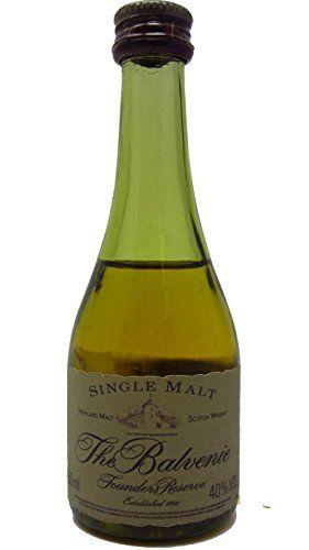 Balvenie – Founders Reserve Miniature (cognac bottle) – 10 year old Whisky: Balvenie Whisky Unboxed 5cl / 50ml
