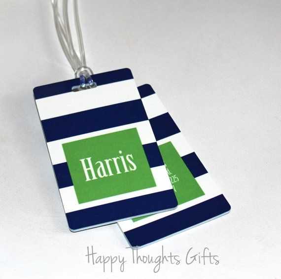 Personalized Luggage Tag - Monogrammed Luggage Tag - Custom Bag Tag - Choose your design on Etsy, $15.00