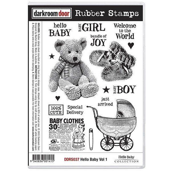Rubber Stamp Set - Hello Baby vol 1 - Darkroom Door