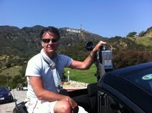 Dave our MD on location in Hollywood