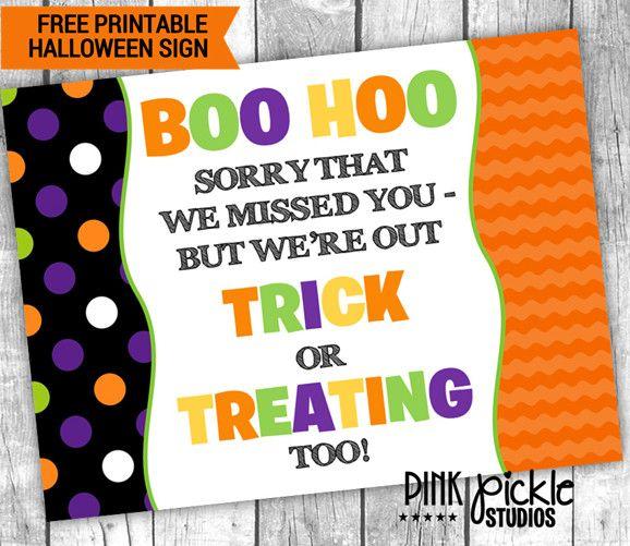 Free Printable Halloween Door Sign