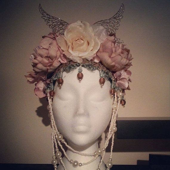 Pastel Tone Fower Crown Made to Order by HysteriaMachine on Etsy